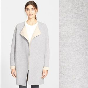 Theory grey felt coat